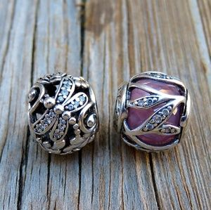 Authentic Pandora Charm Bundle Dragonfly Meadow